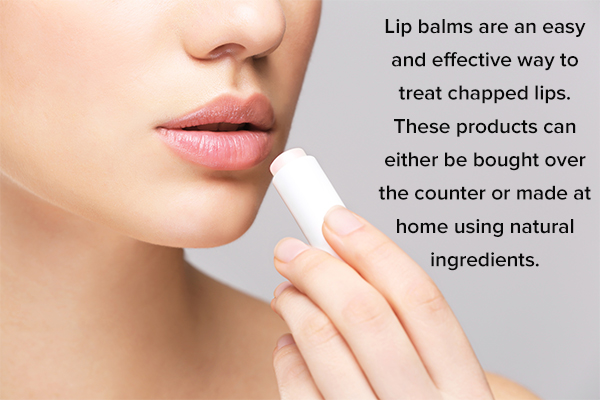 otc or homemade lip balms can soothe chapped lips
