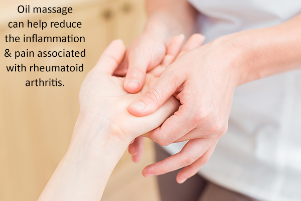 oil massage can help reduce joint pain and inflammation