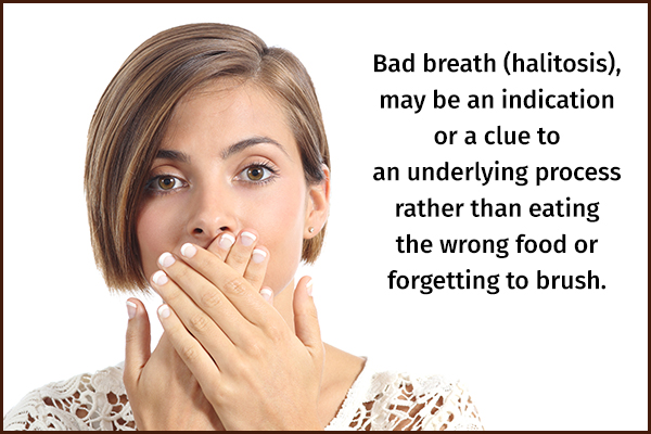 bad breath can be an indicator of toxin overload in the body