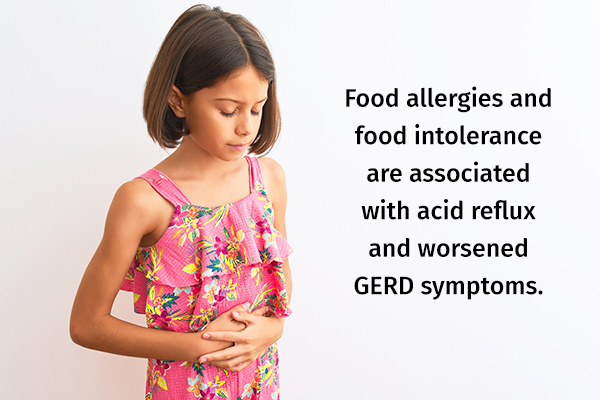 can food allergies be a causative factor for gerd in children?