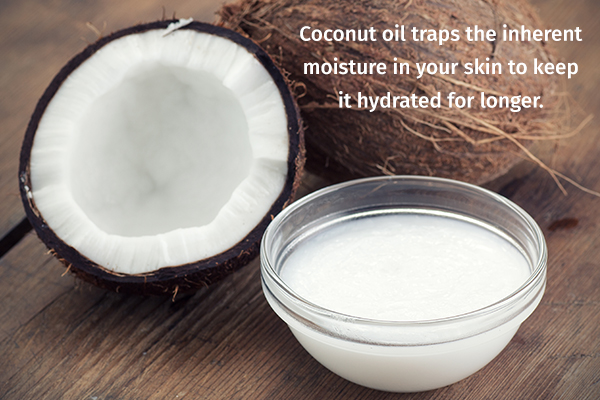 coconut oil can help moisturize your skin