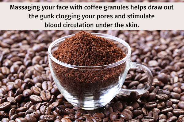 coffee can help deeply cleanse your skin
