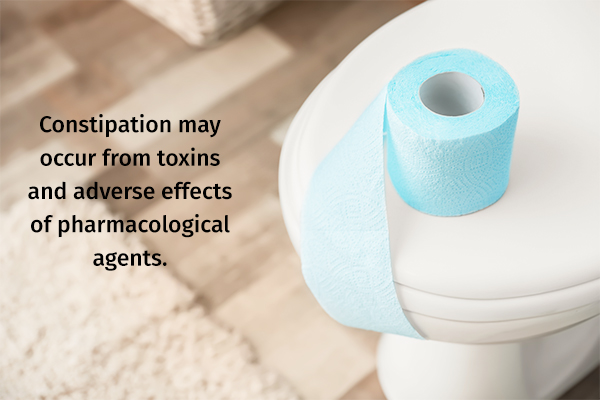 constipation can occur as a result of toxin overload in the body