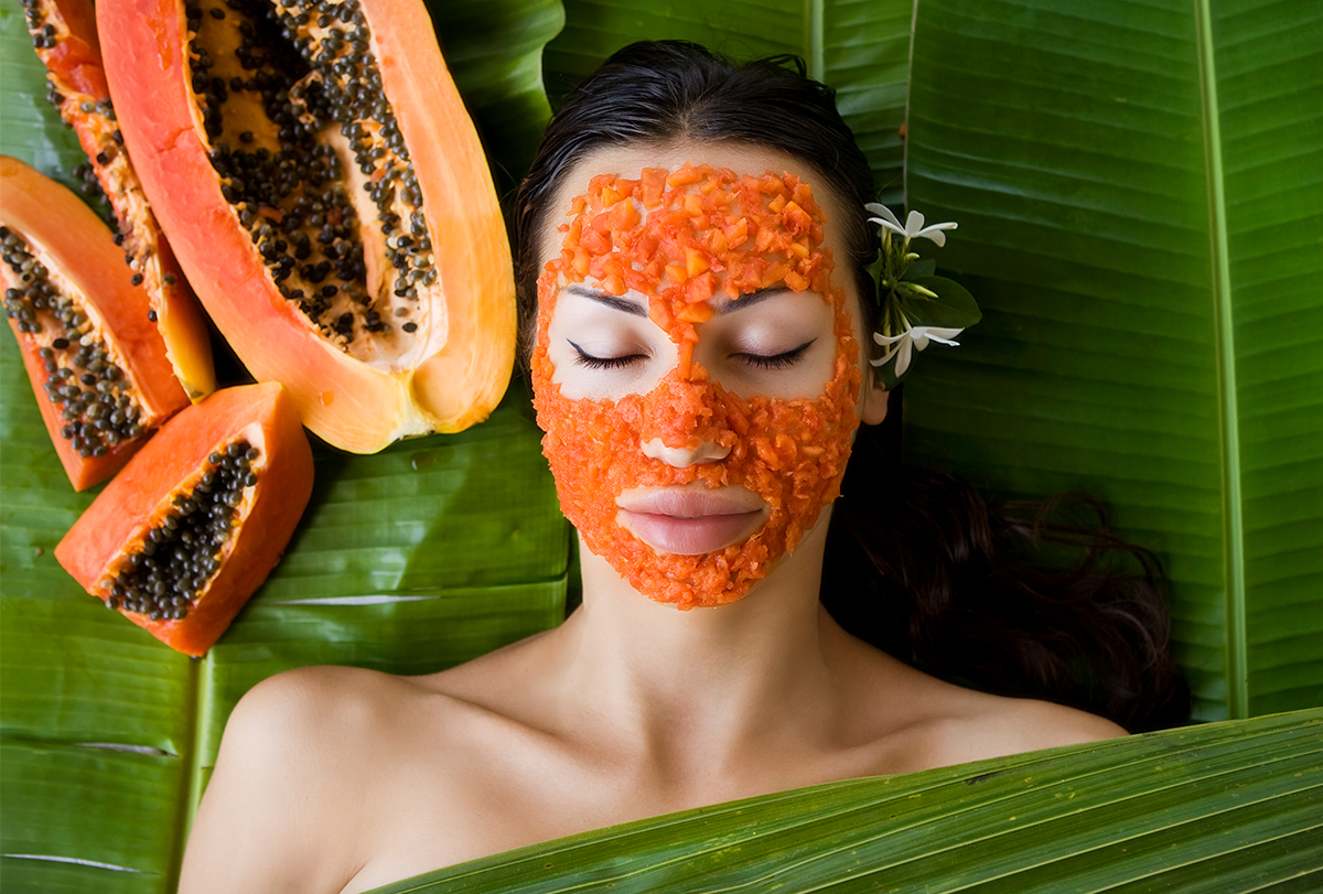 diy papaya face mask