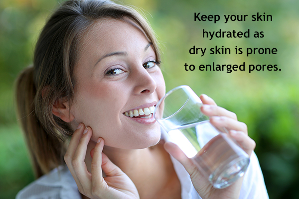 keep your skin sufficiently hydrated