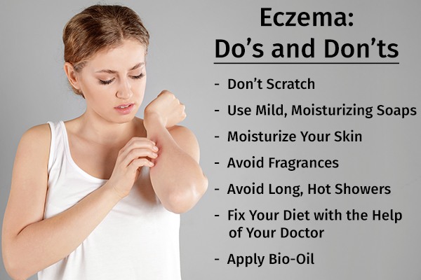 do's and don'ts to help manage eczema