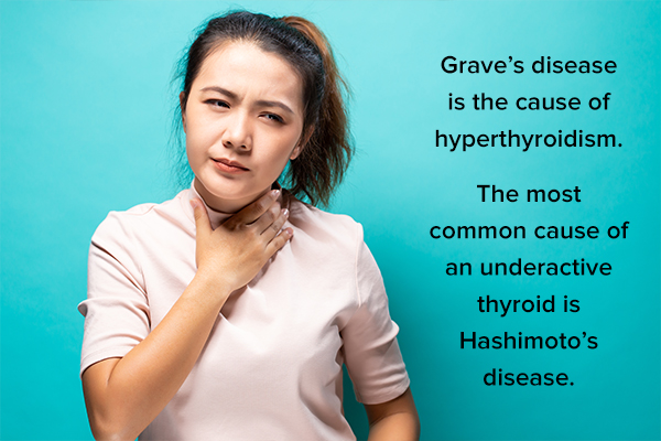 causes of overactive and underactive thyroid