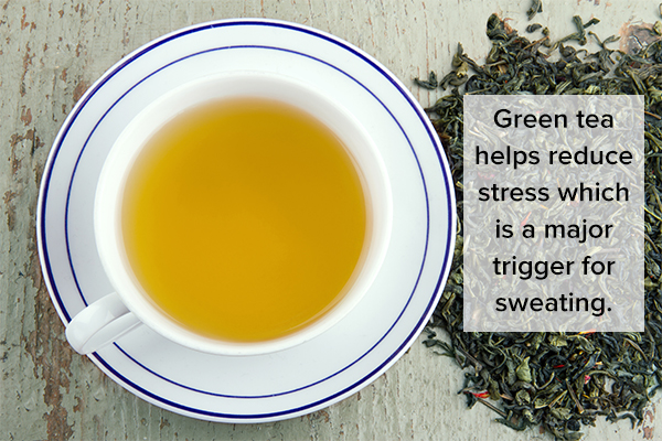green tea consumption can help reduce excessive sweating