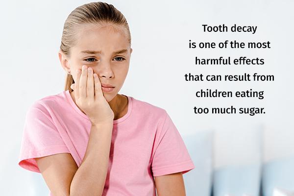 adverse effects of excessive sugar intake in children