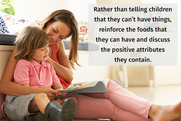 having positive discussions about food choices with kids can help