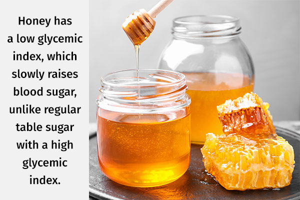 honey can be used as a sugar substitute for managing diabetes