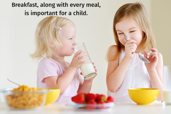 breakfast is important in increasing appetite of children