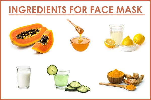 ingredients for homemade papaya face mask