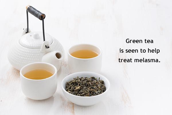 efficacy of green tea in lightening dark lips