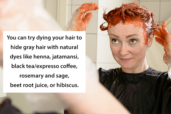 Natural hair colors for premature graying of hair
