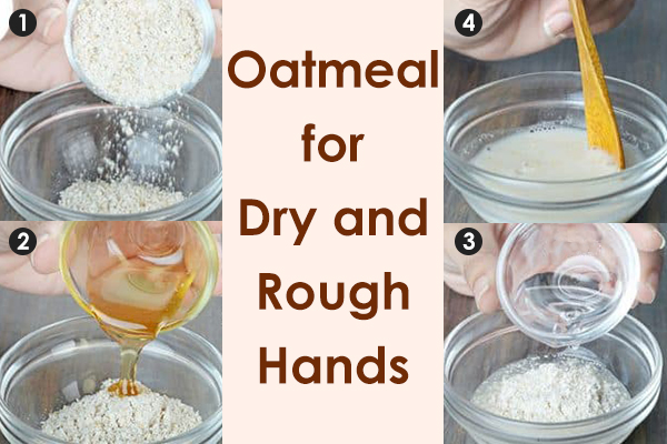 topical application of oatmeal can help moisturize the skin