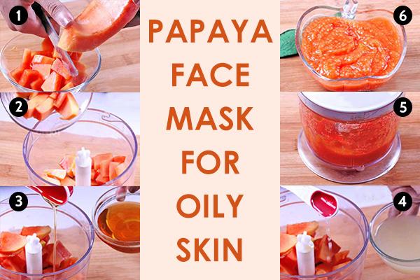 papaya face mask for oily skin