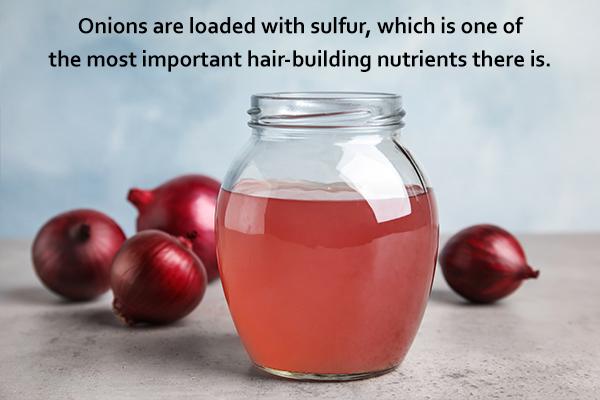 apply onion juice on scalp