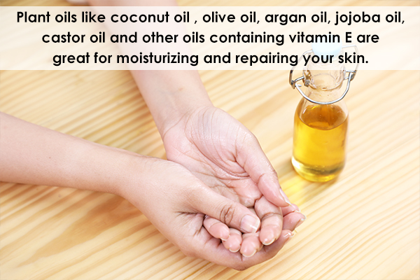 certain plant oils can help nourish the skin