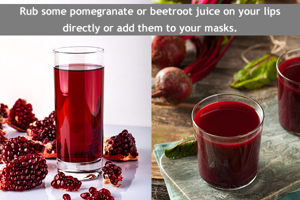 pomegranate/beetroot can help in skin whitening