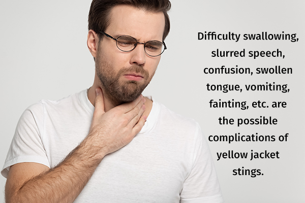 complications of untreated yellow jacket stings