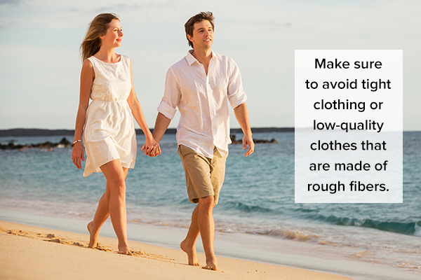 prefer natural fibers when choosing clothes