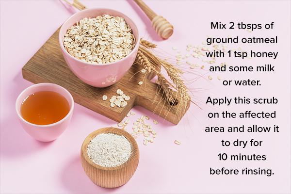 oatmeal scrubs can help manage skin dryness