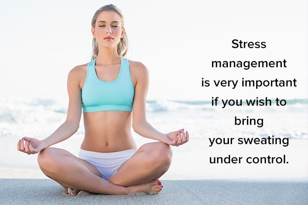 stay relaxed and manage stress for sweat control