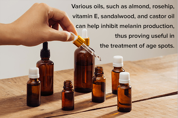 certain oils can prove helpful in treating age spots
