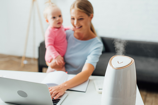 using humidifiers can help increase moisture in air and prevent dry skin