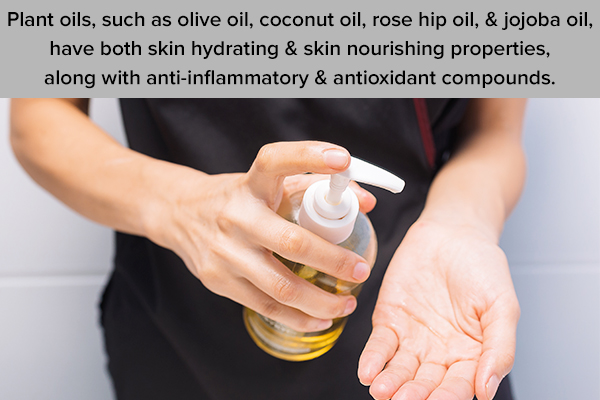 plant oils can help manage dry skin