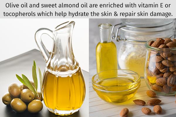 vitamin E oils can hydrate the skin and repair skin damage
