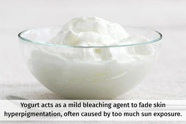 yogurt can help fade skin hyperpigmentation