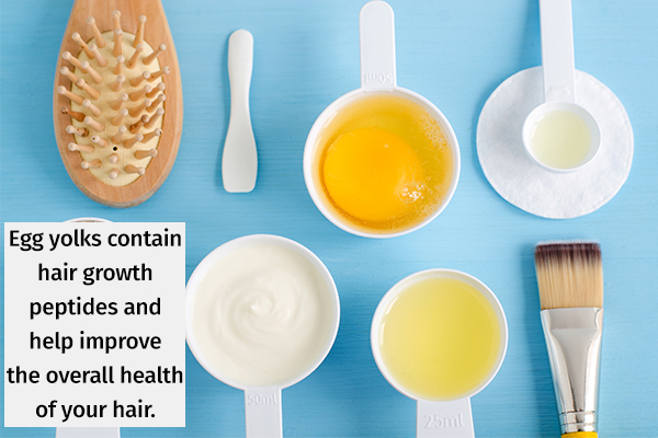 egg yolks can help improve your overall hair health