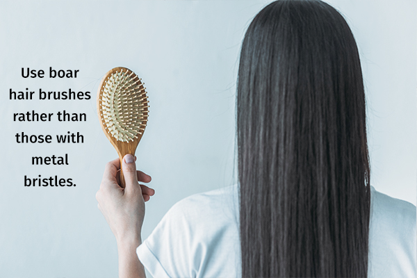 avoid straining your hair as it can weaken hair strands