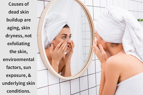 causes behind dead skin cell accumulation