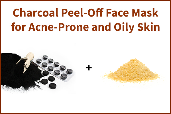 charcoal peel-off face mask for skin