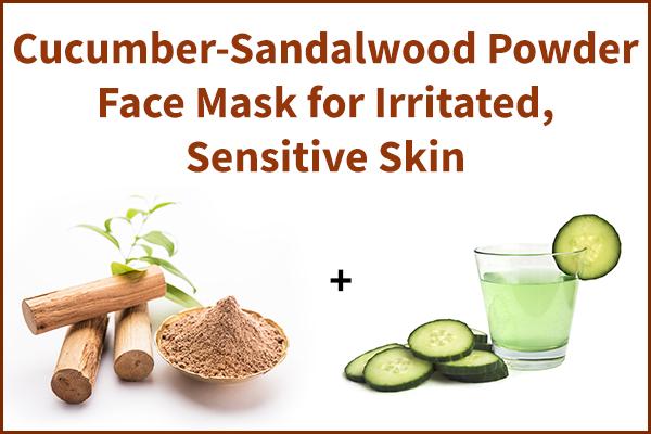 cucumber-sandalwood powder face mask for skin