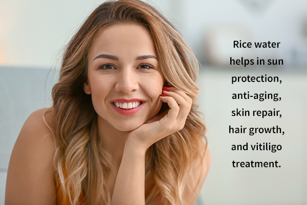 rice water offers several dermatological benefits