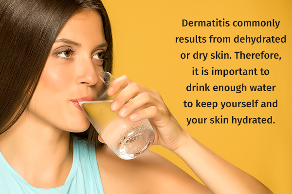 drink adequate water to keep your skin hydrated