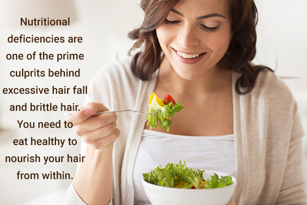 eat healthy to nourish your hair from within