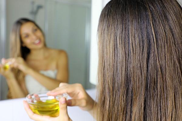 proper application of hair oil