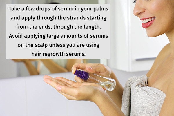 how to properly apply hair serum