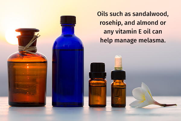 application of topical oils can help manage melasma