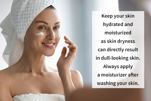 keep your skin regularly moisturized