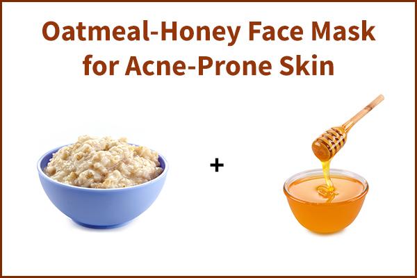 oatmeal-honey face mask for acne-prone skin