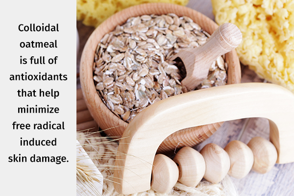 oatmeal can help minimize skin damage