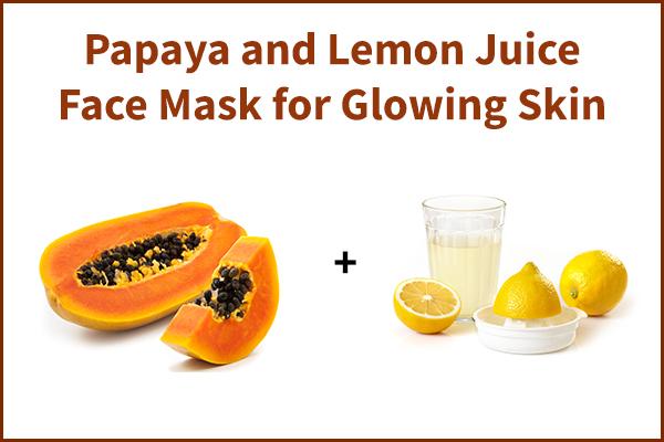 papaya and lemon juice face mask for glowing skin