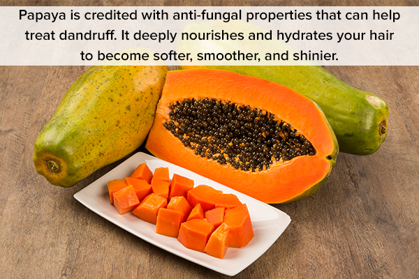 papaya is the preferred choice for hair masks