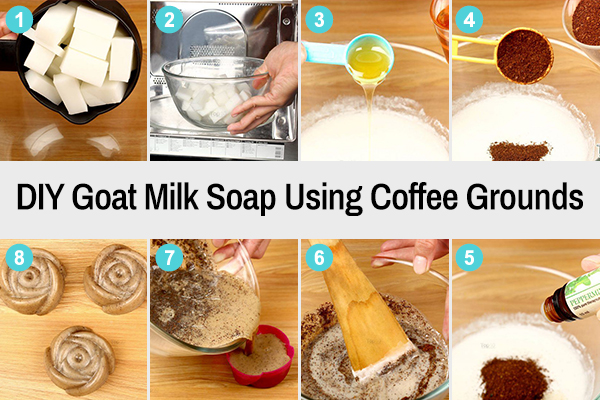 diy goat milk soap recipe using coffee grounds